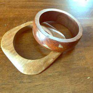 Wooden bracelets (set of 2)